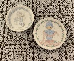 2 Vintage Precious Moments 4 Inch Mini Plates 1982 Touch Hearts 1989 Ann... - $9.99