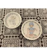 2 Vintage Precious Moments 4 Inch Mini Plates 1982 Touch Hearts 1989 Ann... - $11.49
