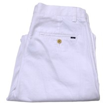 Polo Ralph Lauren Chino Classic Fit Flat Front Pants 35 32 35W 32L Bright White - $65.41