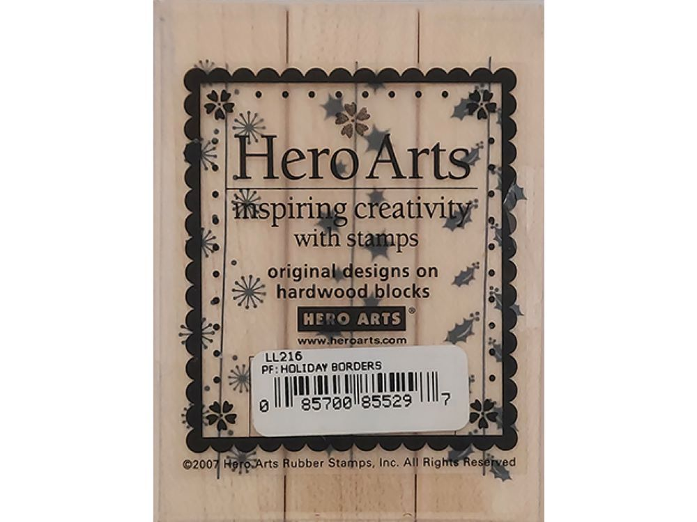 Hero Arts Holiday Borders Wood Mounted Rubber Stamps #LL216