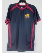 FCB Barcelona team polyester crest t shirt black cherry size L/G - $13.99