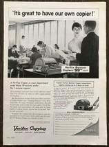 1959 Kodak Verifax Bantam Copier Print Ad Great 50s Office Pool Image - $10.79