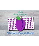 plum   planner stickers   food icon   for planner and bullet journal - $3.00+
