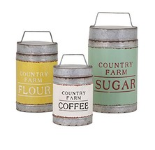 Imax 88665-3 Dairy Barn Decorative Lidded Containers-Set of Three - $54.33