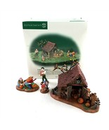 Department 56 Its Almost Thanksgiving 4 Pc Set Display New England Villa... - $34.56