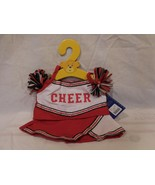 Build a Bear Red White Cheerleader Outfit with Pom Poms NEW - $10.90