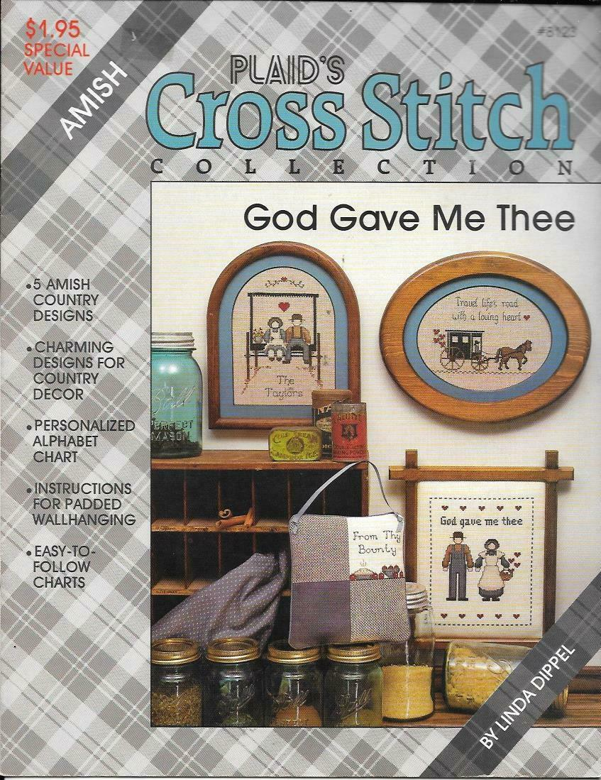 Plaid's Cross Stitch Collection #8123 Amish - God Gave Me Thee - $8.00