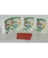 Hallmark XZH 607 1 Three Christmas Ornaments Red Blue Yellow Card Package 4 - $17.99