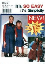 Simplicity 0668 Sewing Pattern Misses & Girls Matching Jumpers Size 3 - 8 & 6 -  - $4.95