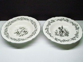 2 Tabletops Unlimited NEW ENGLAND TOILE BLACK  Rimmed Soup Bowl Set of 2 - $18.61