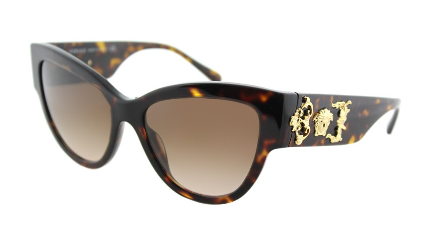 NEW VERSACE Rock Icons Medusa Sunglasses VE4322 108/13 55 Tortoise Gold Brown