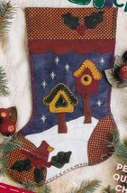 Bucilla Winter Wonderland Country Snow Bird Christmas Felt Stocking Kit ... - $19.95