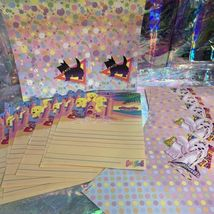 Lisa Frank Stickers Stationery Lot Princess Pearls Puppies Sandcastles Dalmatian image 5