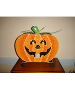 Large Thin Metal Pumpkin Shaped Candle Holder - $18.99