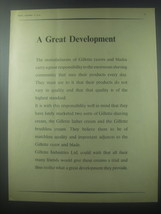 1954 Gillette Razor Ad - A Great development - $14.99