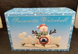 Cracker Barrel Snowman Waterball Winter Decoration Christmas Holiday Sno... - $19.34