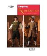 Simplicity 4059 Reenactment Mens All Sizes Renaissance Costume Historica... - $9.95