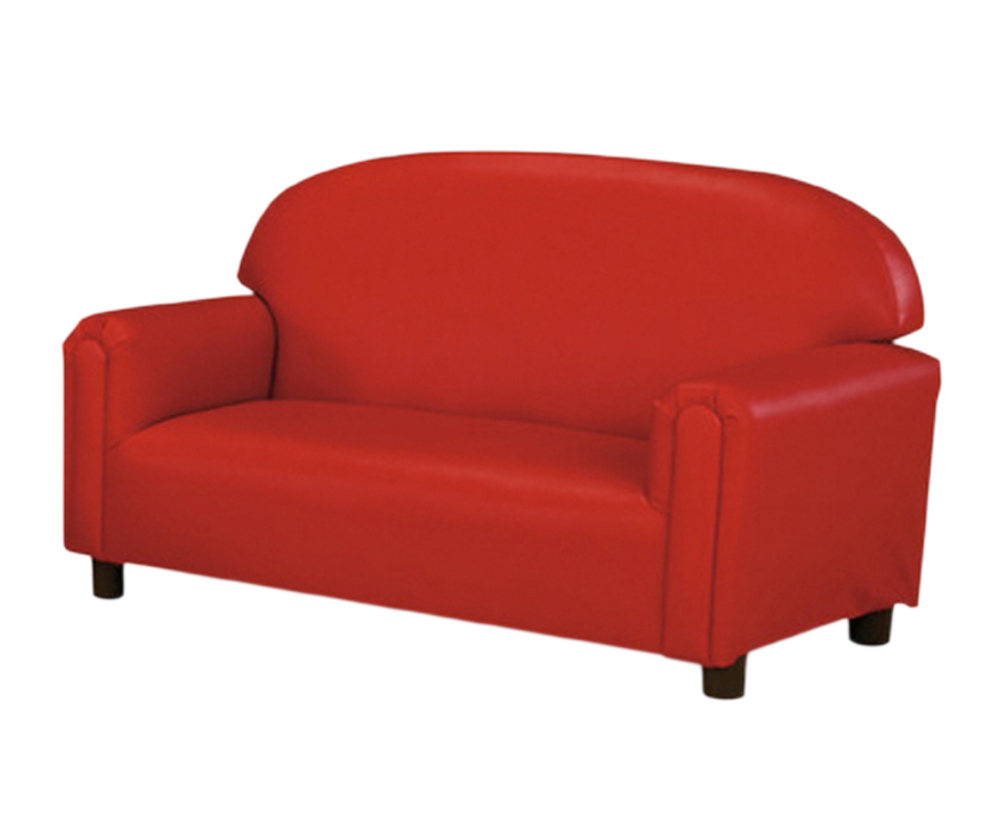 "Primary image for Brand New World ""Just Like Home"" Preschool Vinyl Upholstery Red Sofa"