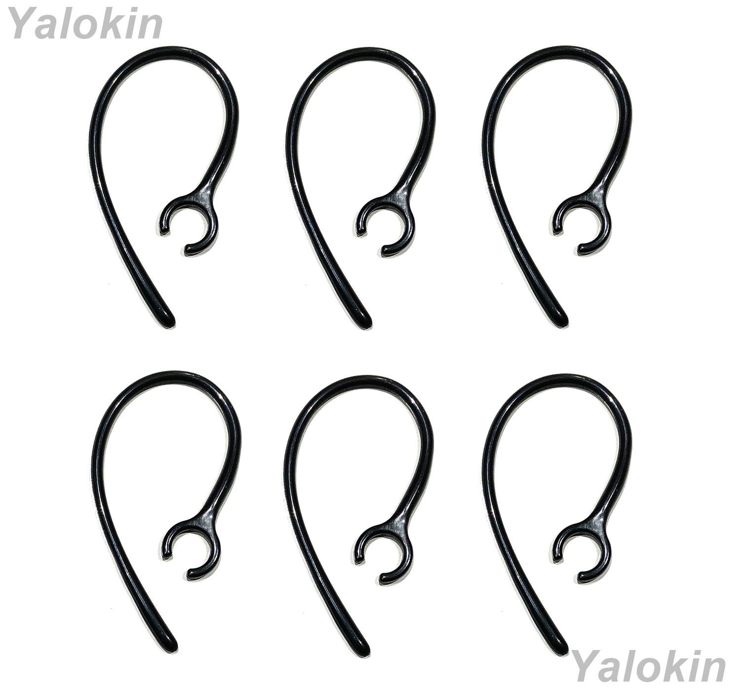 6pcs (SK-CHP) Black Replacement Ear Loops Ear-Clips for Jabra Headset