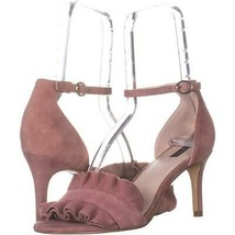 Alfani Grayy Ruffle Ankle Strap Sandals 207, Dusty Mauve, 6 US - $21.11