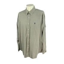 Ralph Lauren Polo Men's Blake Long Sleeve 100% Cotton Navy Khaki Check S... - $18.79