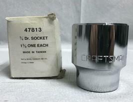 Vintage Craftsman 3/4 Dr Socket 1 5/8 EE Series 47813 New With Box - $19.79