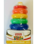 Fisher Price Rock a Stack Sleeve Rainbow Ring Stacking Stacker Baby Toy New - $19.79