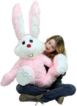 American Made Giant Stuffed Pink Bunny 50 Inch ... - $97.11