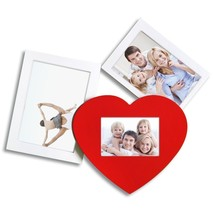 Adeco 3-Opening Multi Sizes White Wood Wall Hanging Collage Photo  Frames - $17.81