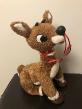 Hallmark Don't Cover My Nose Rudolph talking lights Singing Plush used w... - $49.49