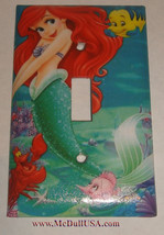 Ariel Flounder Sebastian Light Switch Power Duplex Outlet wall Cover Plate Decor image 1