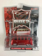 "Volkswagen VW Van ""Samba"" Red, 1:64 Scale Die-Cast Collectible G-Ridez M... - $14.84"