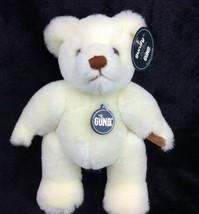 Gund Gundy Bär Teddybär Weiß Verbunden Vtg 1983 Plüsch Plüschtier - $38.38