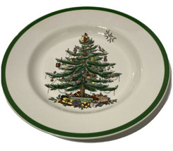 Spode Christmas Tree Dinner Plates England S3224-A2 Set Of 2 Beautiful Condition - $56.10