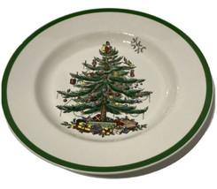 SPODE CHRISTMAS TREE DINNER PLATES ENGLAND S3224-A2 SET OF 2 BEAUTIFUL C... - $56.10
