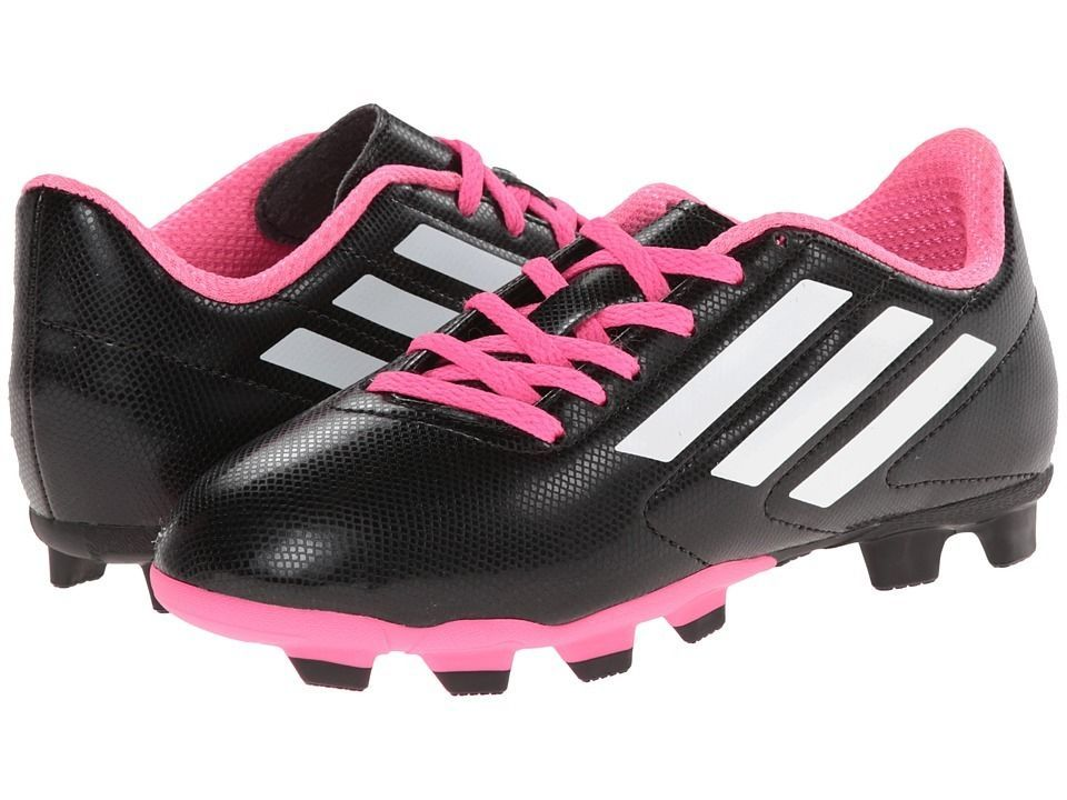 034c369d8 S l1600. S l1600. Previous. ADIDAS Size 4.5Y Kids GIRLS BOYS Conquisto FG Soccer  Cleats Shoes BLACK Pink NEW