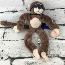 Playmaker Toys Super Hero Monkey Plush Stretchy Arms Cape & Mask Stuffed Animal - $9.89