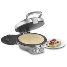CUISINART CPP-200C International Chef Crêpe/Pizzelle, Pancake Plus, Silver  - €126,34 EUR