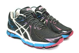 Asics GT-2000 Women's Blue Red White Athletic Running Shoes Size 8.5 M - $34.84