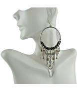 Mia Fashion Jewelry Half Hoop Hanging Beads & Chain Dangle Earrings - Lo... - $32.91