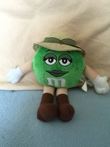 "M&M's 10"" Green Indiana Jones Plush Girl 2008 Lucasfilm Hat Explorer - $9.89"