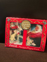 1996 Coca Cola Playing Cards SANTA In Collectible Tin Vintage 2 Decks NEW - $12.99