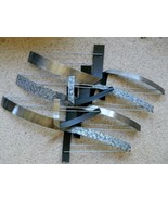 Vintage C. Jere Ribbon Wall Sculpture in Polished, Black and Textured Metal - $759.05