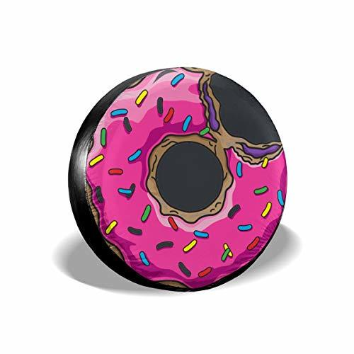 CENSIHER Donut Pattern Spare Tire Cover Polyester Waterproof Universal Spare Whe