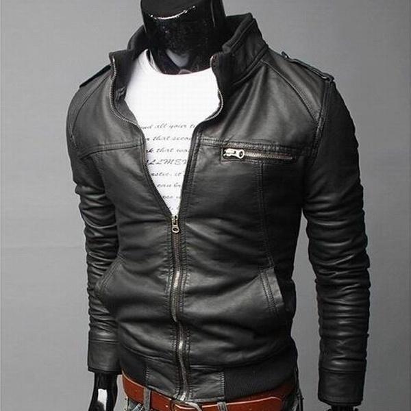 Bluechino Mens Jackets New Arrival British Style Leather Jackets Dress Coats Cas