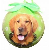 Golden Retriever Christmas Ornament Shatter Proof Ball Dog Snowflakes Gr... - $9.89