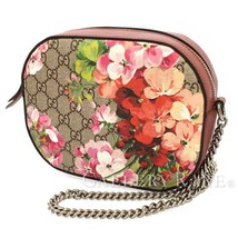 GUCCI GG Blooms Supreme PVC Leather Pink Beige 409535 Shoulder Bag Authe... - $848.83
