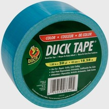 """NEW Duck Tape Duct 1.88"""" x 20 Yd Aqua Blue Color Coding Crafts Multi Use... - $8.67"""