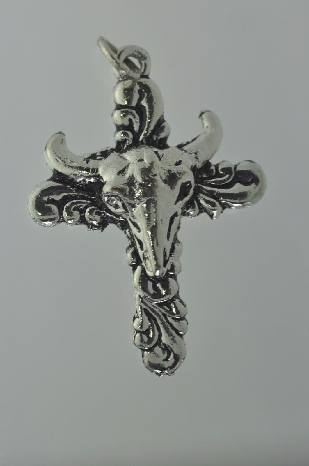 NICE Sterling Silver 925 charm Jewelry Bullfighter Cross Bull Torero Cowboy West