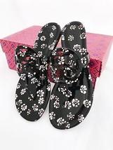 Tory Burch Miller Sandals Thong Flip Flop Patent Leather Black Floral 7.5 - $179.99